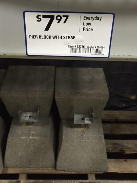 Home Depot Concrete Deck Footing Blocks