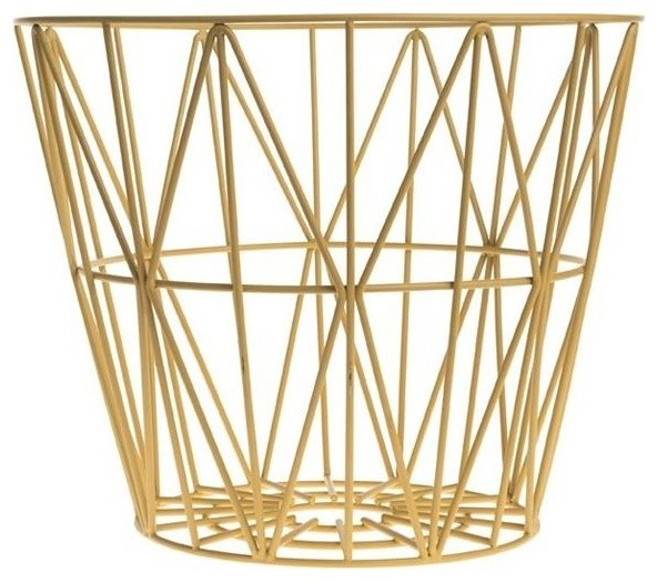 ferm living 3065 medium wire basket rose contemporary baskets