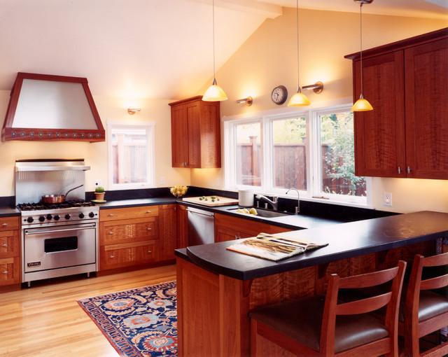 Custom Cherry Wood Cabinets Kitchen