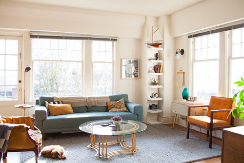 My Houzz: Bright and Airy Apartment Beats the Seattle Grey