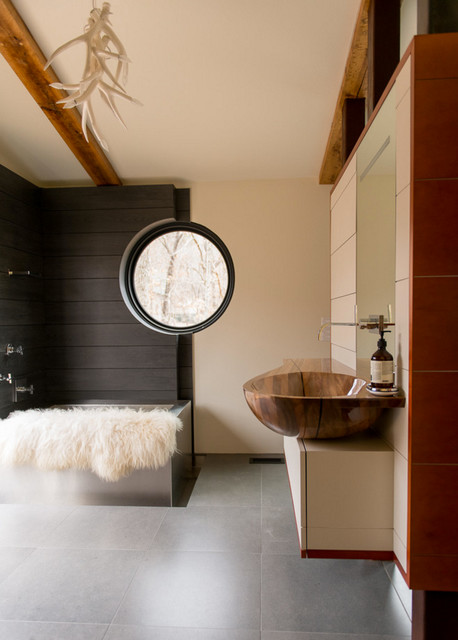 Cabin Master Bath modern-bathroom