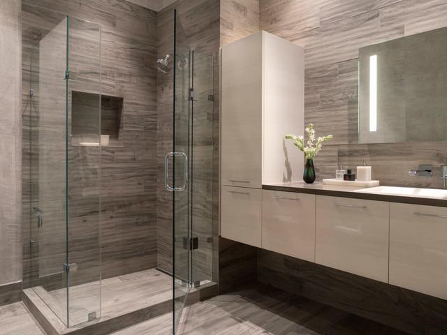 Modern Gray + White Bathroom