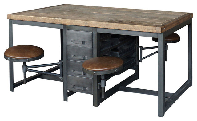 Autumn Elle Design Terran Work Table Rustic Black