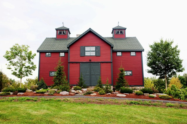 The Somerset Post And Beam Barn Home Rustic Exterior