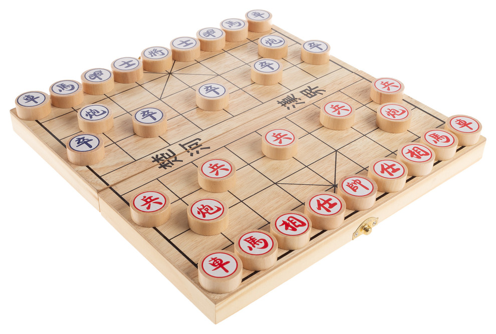 hey play wooden chinese chess board game
