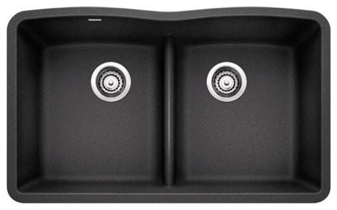 blanco diamond silgranit low divide undermount kitchen sink anthracite