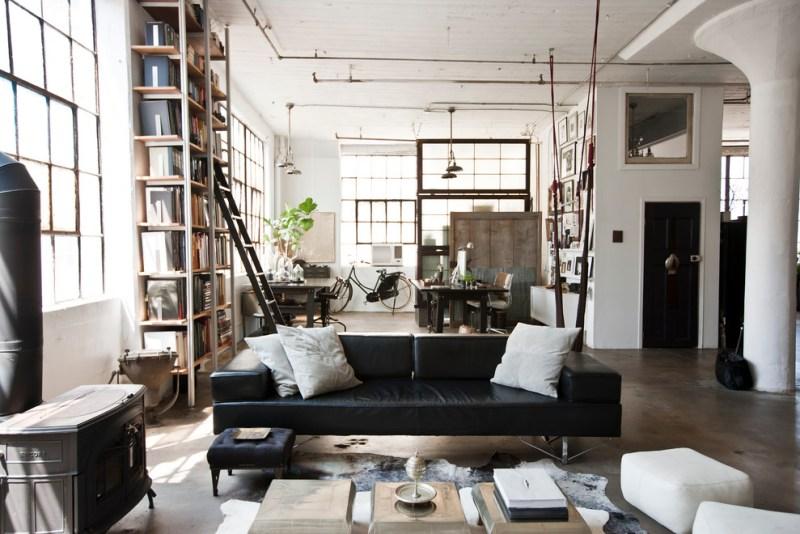 My Houzz: International Meets Industrial in aBrooklyn Loft
