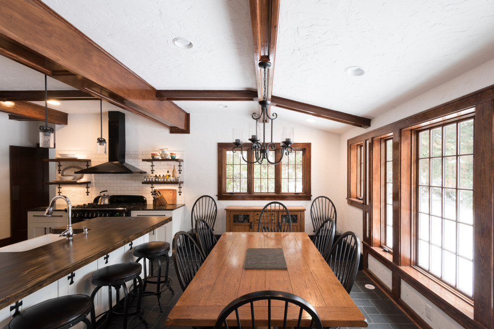 Modern Farmhouse Kitchen With Exposed Wood Beams Farmhouse Kitchen Other By Curtis Lumber Ballston Spa