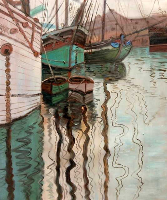 Schiele Quot Harbor Of Trieste 1907 Quot Oil Painting Modern