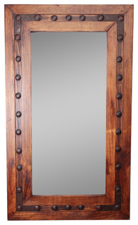 Los Olmos Rustic Mirror Iii 30x36 Industrial Wall