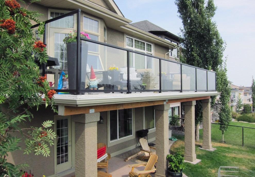 Deck Over Walkout Basement Traditional Deck Calgary | Walkout Basement Stair Covers | Door Bilco | Exterior | Cellar | Welled | Walkup