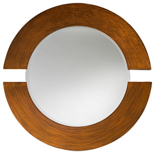 Howard Elliott Orbit Burnished Copper Mirror