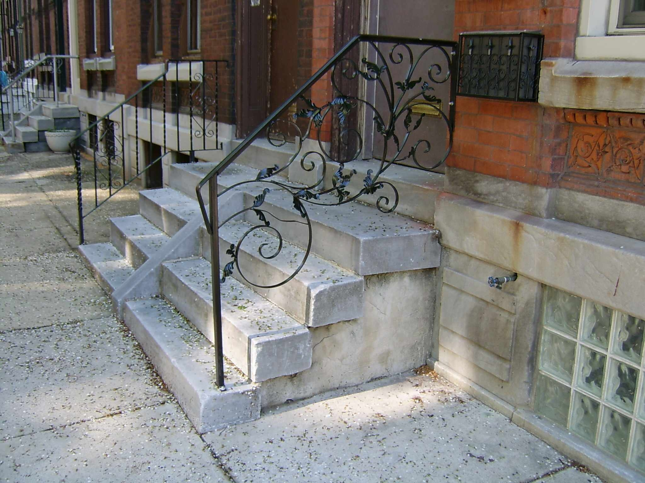 Modern Front Porch Railings Ideas Photos Houzz   Outdoor Handrails For Concrete Steps   Contemporary   Hand Rail   Precast   Stair   Water Pipe
