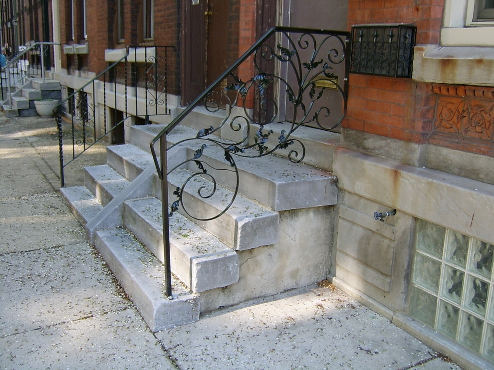 Front Porch Railings Traditional Porch Philadelphia By | Handrails For Front Steps | Small House | Granite | Easy | Cast Iron | Wrought Iron