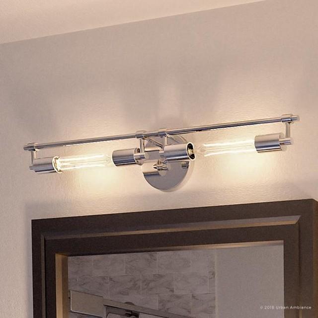 luxury industrial bath vanity light montpellier series polished chrome