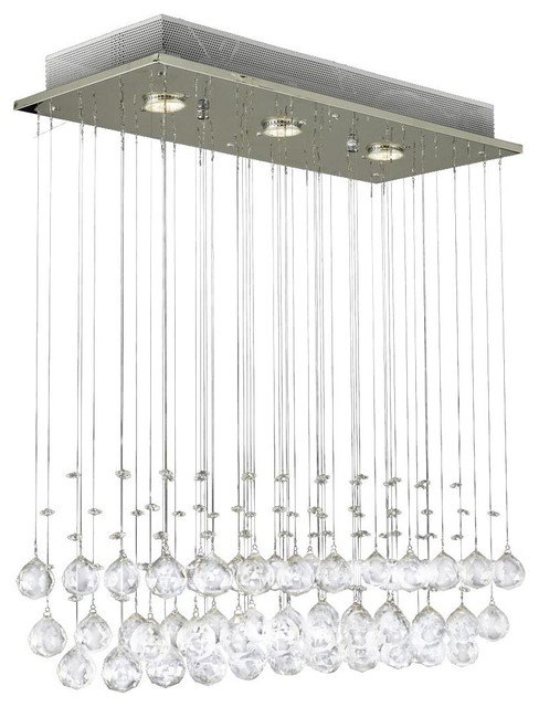 Raindrop Crystal Ball Ceiling Lamp Contemporary Chandeliers