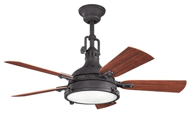44 Hatteras Bay Patio Ceiling Fan Distressed Black