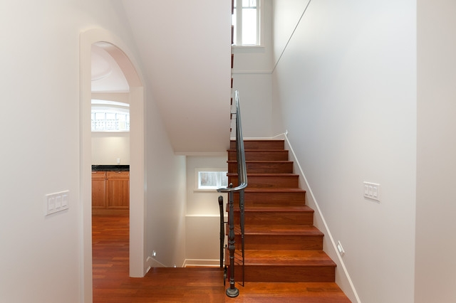 Front Elevation Contemporary Staircase Vancouver By Peter | Stair Room Front Design | 3Rd Floor | Residential | 100 Sq Meter House | Hall | Small Space