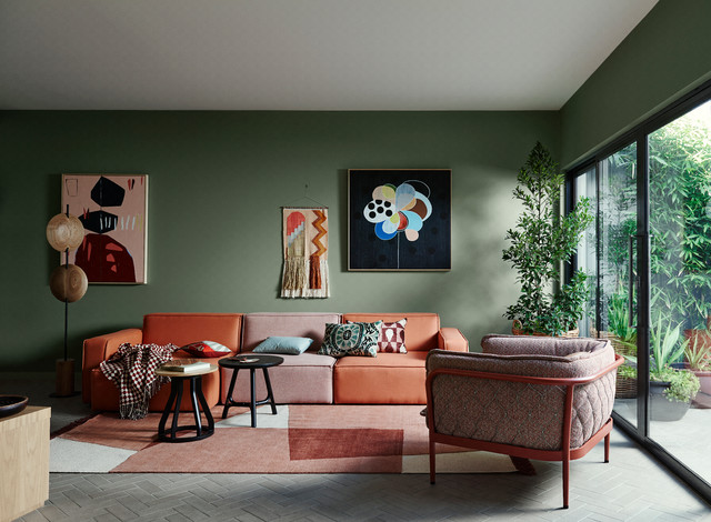 Dulux Colour Trends 2018 contemporary-living-room