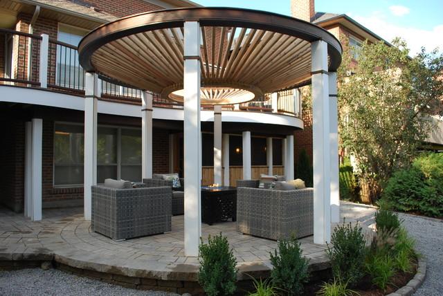 The Circular Pergola Deck Modern Deck Toronto By