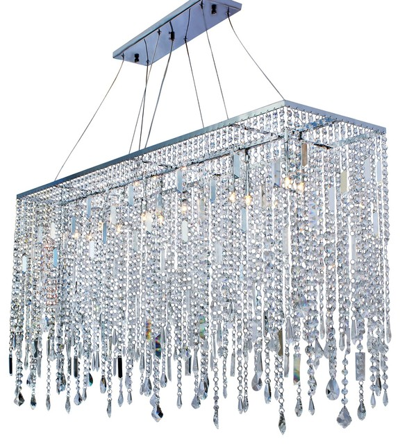 Naples 48 Chrome Crystal Chandelier Modern Chandeliers