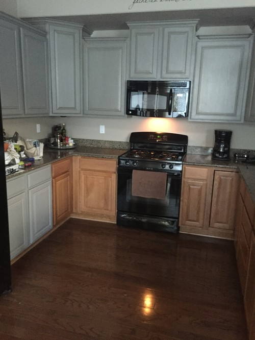 Help Painting Oak Cabinets Grey