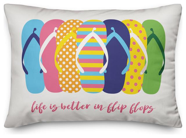 life is better in flip flops 14x20 throw pillow