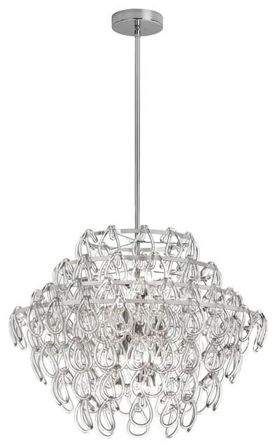 Olivia 12 Light Glass Loop Chandelier Contemporary Chandeliers