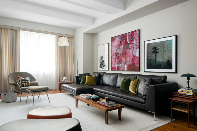UPPER WEST SIDE NYC midcentury-living-room