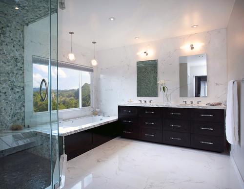 shower walls and floor
