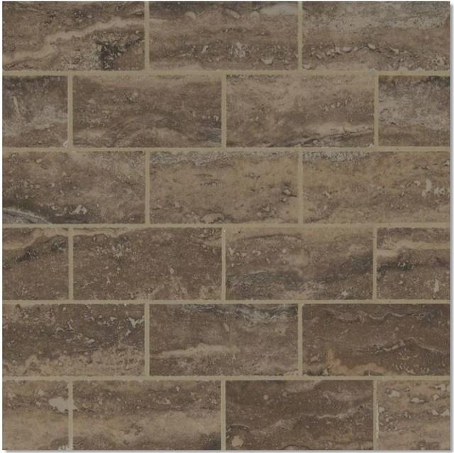 12 x12 porcelain polished brown subway tile bathroom kitchen backsplash