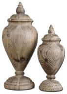 Uttermost Brisco Carved Wood Finials, 2-Piece Set