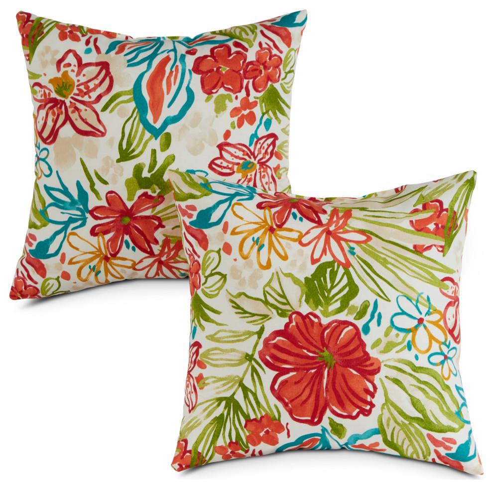 17 inch outdoor throw pillow set of 2 breeze