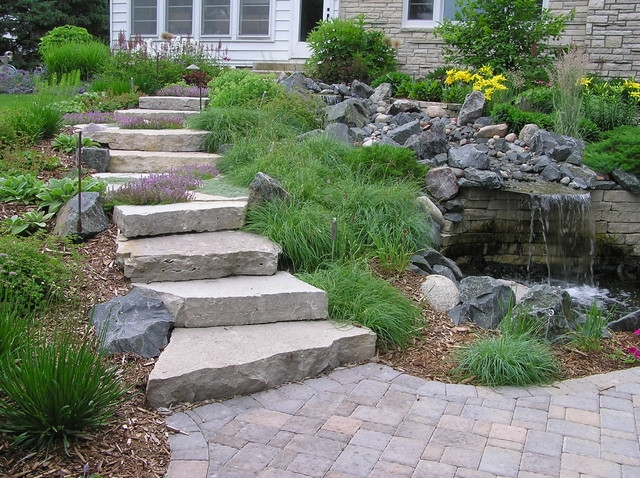 Stone Walls Steps Patios Fireplaces Traditional | Granite Stone Steps Outdoor