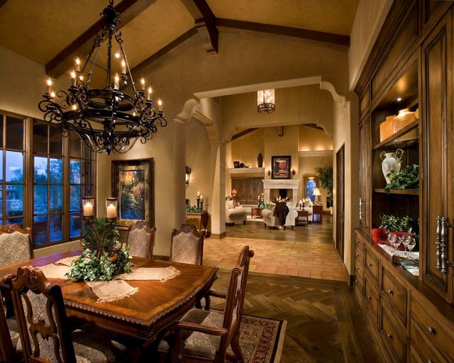 Italian Farmhouse Mediterranean Dining Room Phoenix By The Phil Nichols Company
