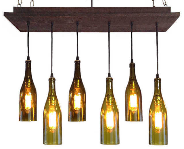 Rustic Wine Bottle Chandelier Chandeliers
