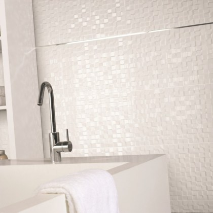 Galaxy White Mosaic Effect Tiles   Direct Tile Warehouse   Wall And     Galaxy White Mosaic Effect Tiles   Direct Tile Warehouse