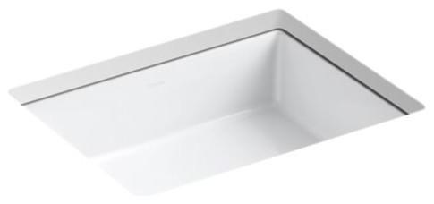 kohler verticyl rectangle under mount bathroom sink white