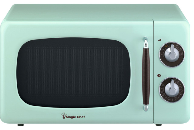 0 7 cu ft 700w retro countertop microwave oven mint green