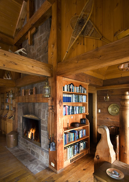 Cabin Up North Eclectic Living Room Minneapolis By