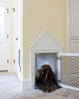Tudor Addition Mudroom Dog House traditional-entry