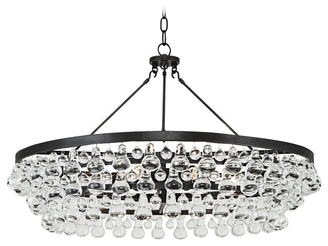 Robert Abbey Bling Collection Large Deep Bronze Chandelier Transitional Chandeliers