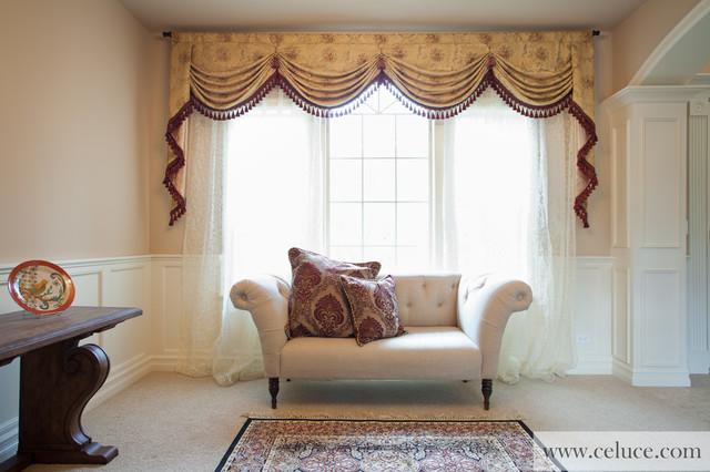 Versailles Rose Premium Designer Swag Valances