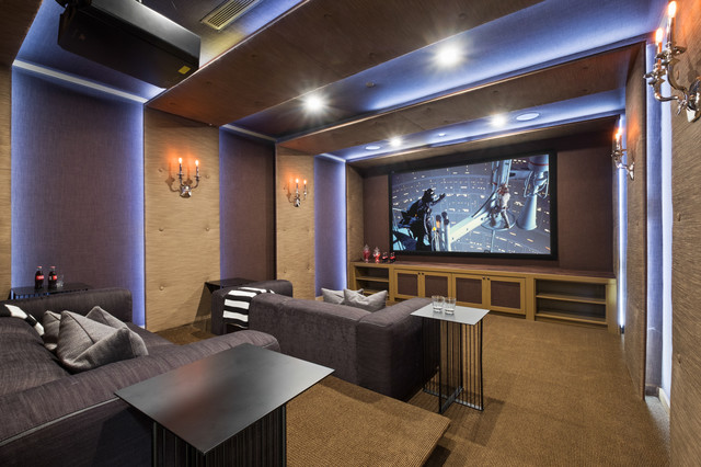 Homes I have photographed transitional-home-theater