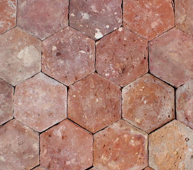 6 x6 reclaimed french terracotta hexagonal set of 450