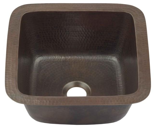 pollock 12 undermount copper bar prep sink