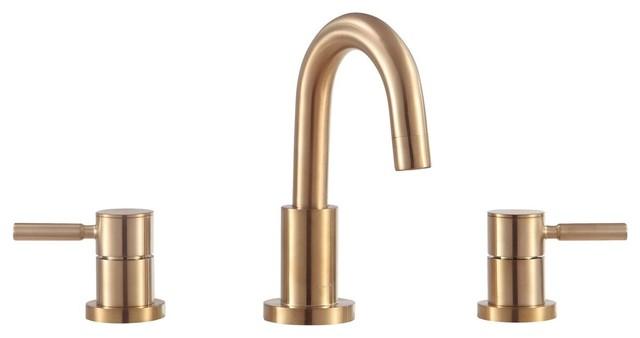 avanity positano 8 widespread 2 handle bath faucet matte gold finish
