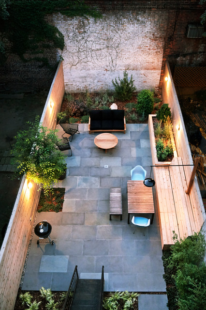 Modern in Bed-Stuy contemporaneo-patio