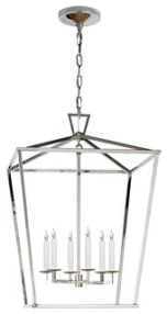 E. F. Chapman Darlana Large Lantern, Polished Nickel