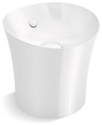 kohler veil tall vessel pedestal bathroom sink basin white